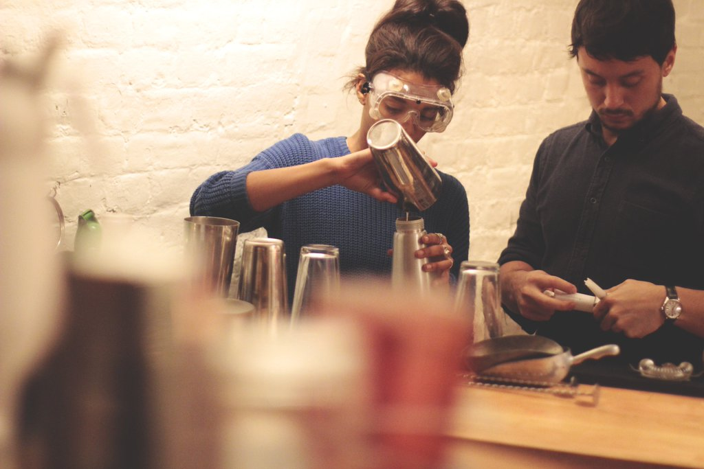 molecular cocktail making classes shoreditch east london