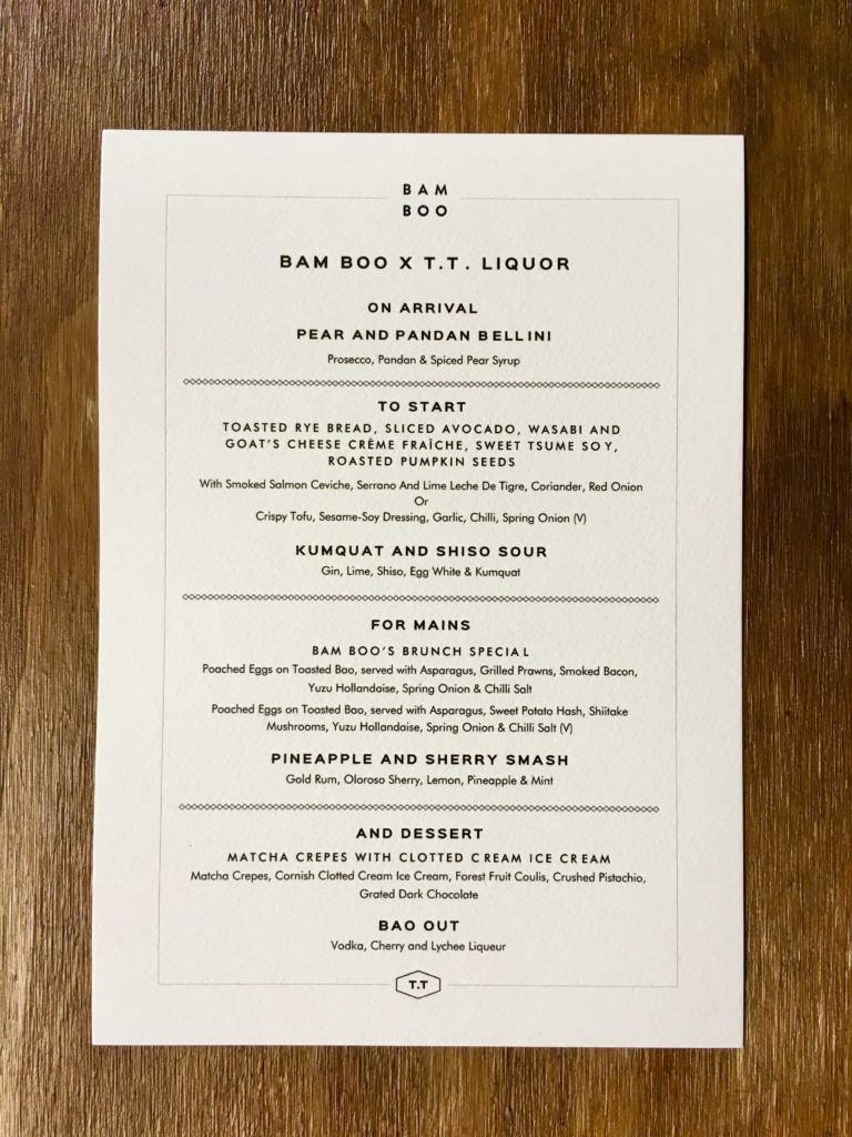 Bam Boo-tt liquor-dining-popup-london-shoreditch-menu