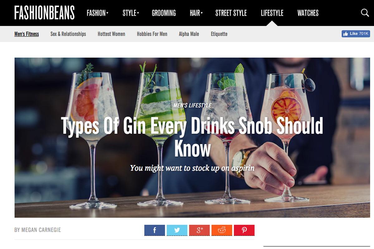 types of gin london fashionbeans
